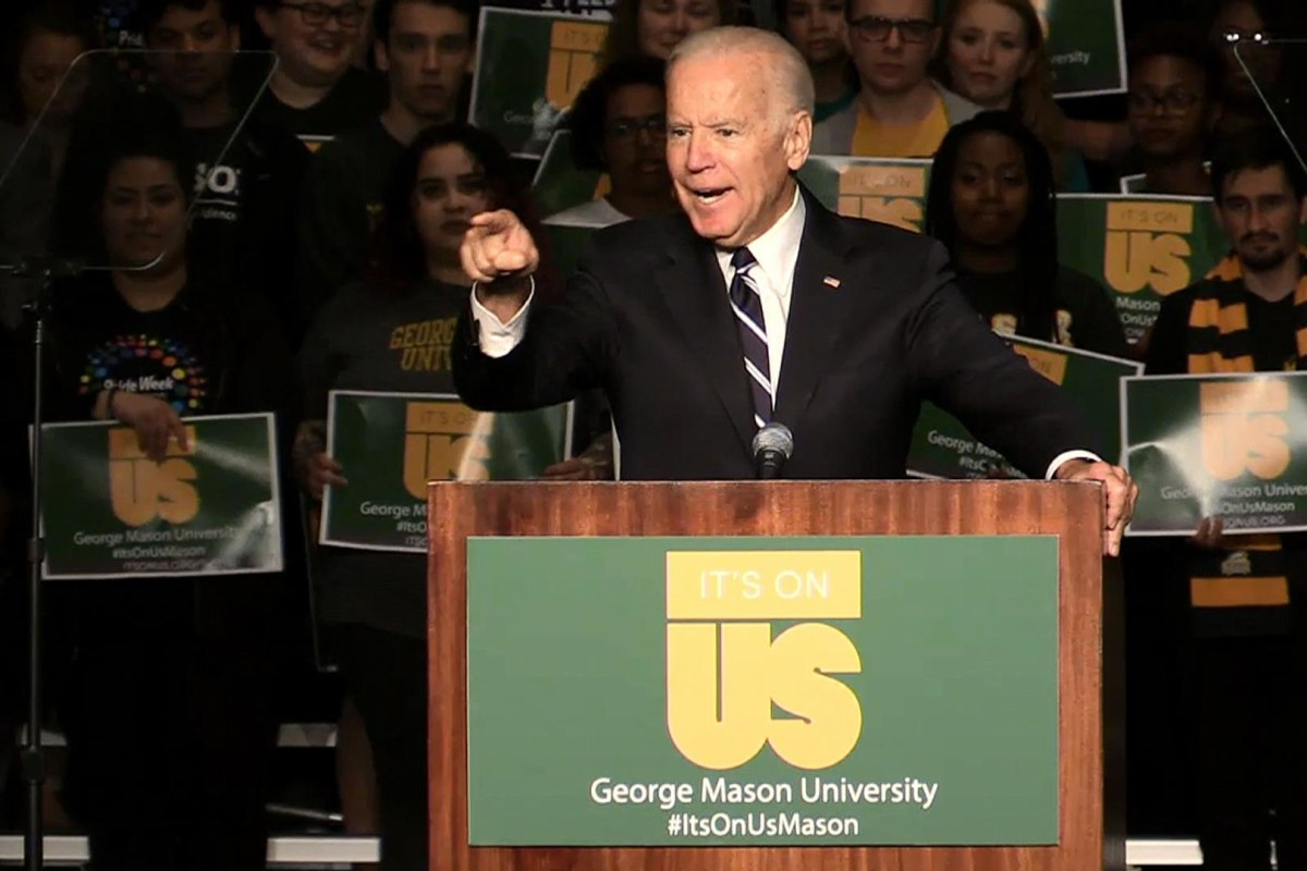 Joe Biden tells students: 'A woman who is dead drunk cannot consent — You are raping her!'