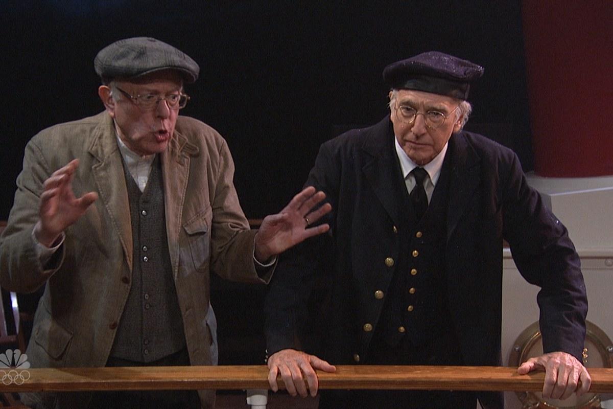 Bernie Sanders Joins Larry David On Saturday Night Live