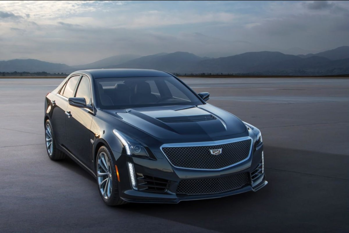 The high performance sedan is anything but the classic Caddy boulevard cruiser, with its supercharged 6.2-liter, 640-horsepower V-8 and track-tuned suspension.