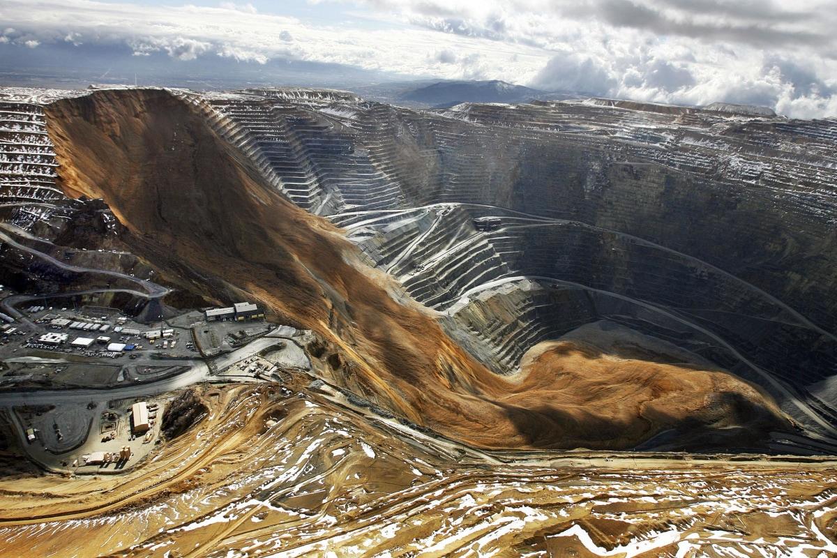 Image: The Kennecott Utah Copper Bingham Canyon Mine after a landslide in Bingham Canyon, Utah.