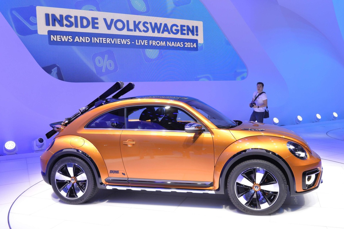 The Volkswagen's Beetle Dune is presented at the North American International Auto Show in Detroit on Monday.