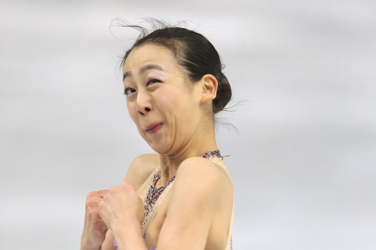 Image: Mao Asada of Japan competes in the women's team short program figure skating