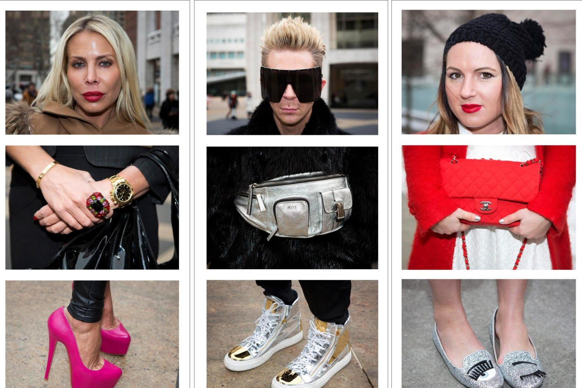 Image: Fashion Week attendees pose for triptych portraits