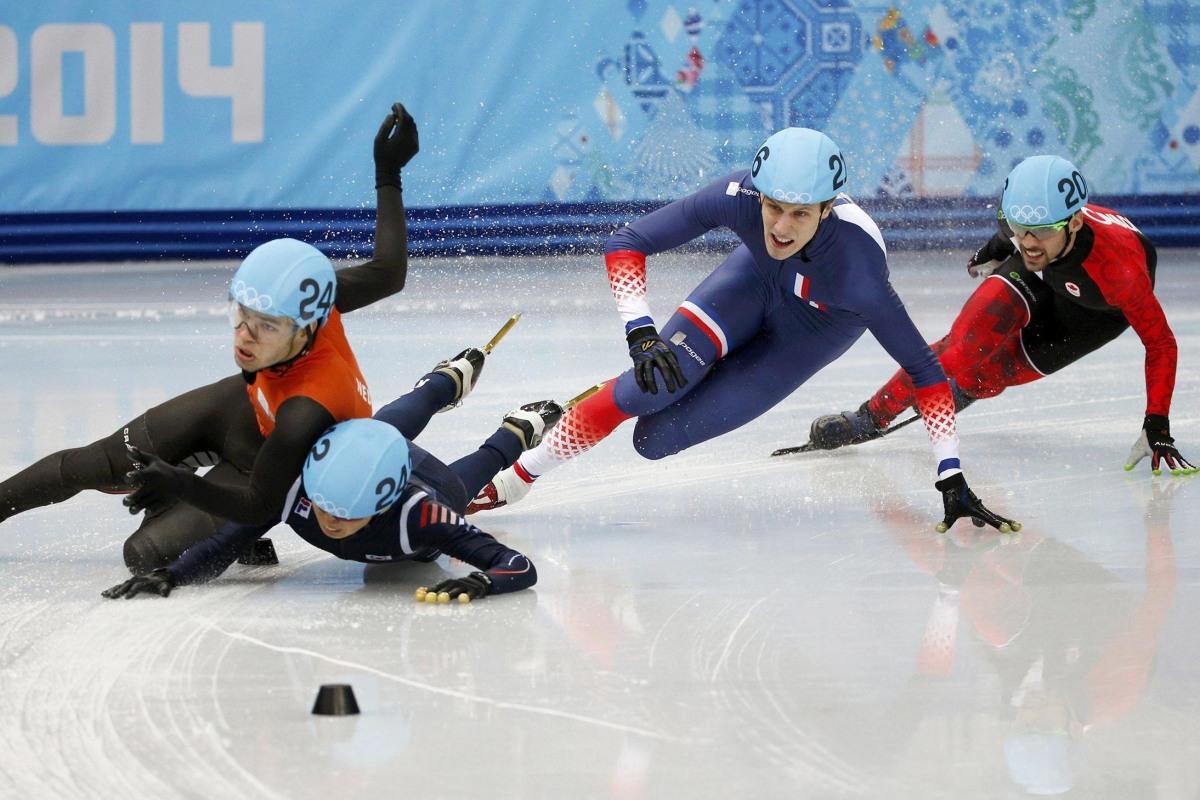 Sochi Short Track Spills and Thrills