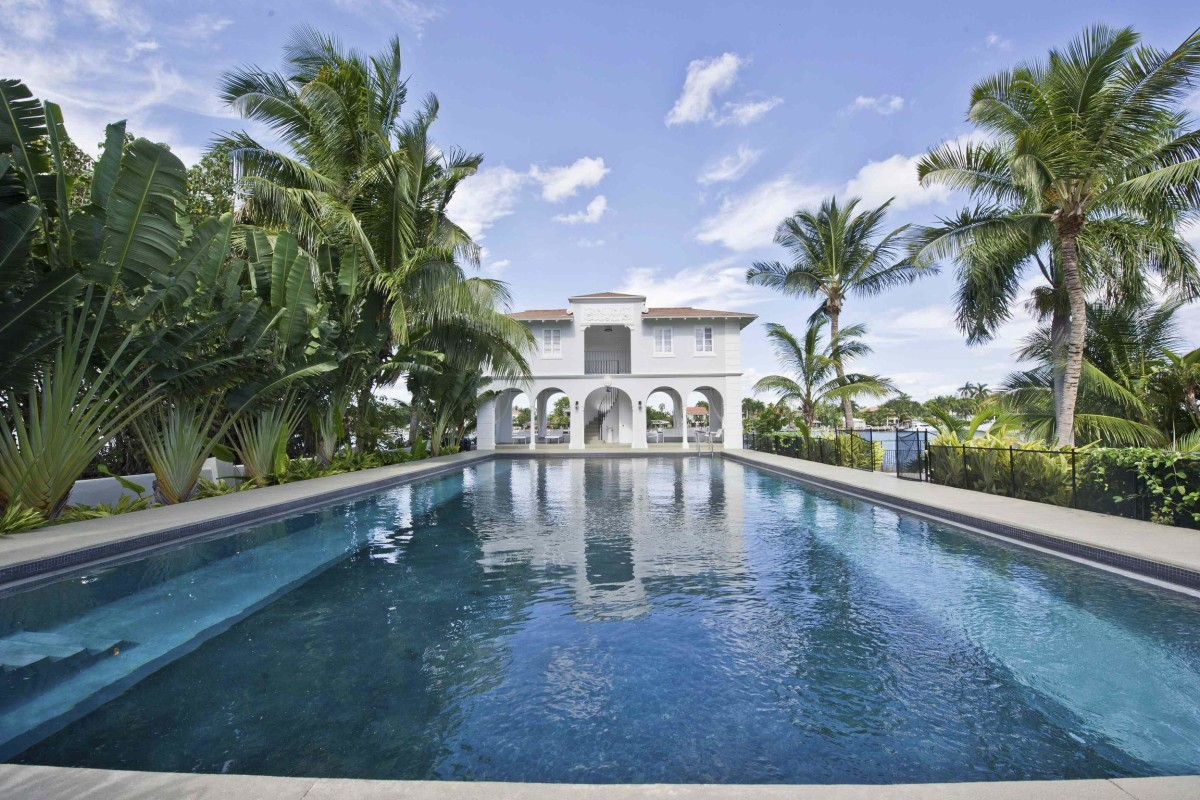 The mansion once owned by gangster Al Capone on Palm Island in Miami Beach