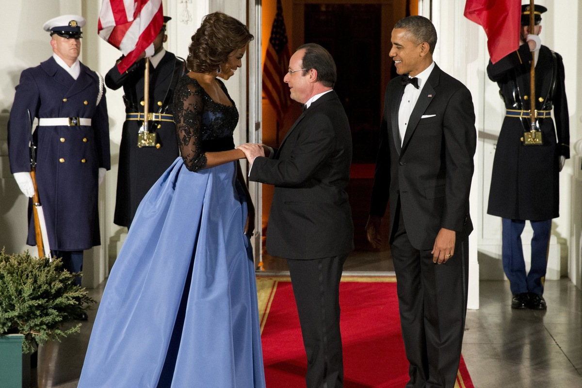 Image: Barack Obama, François Hollande, Michelle Obama