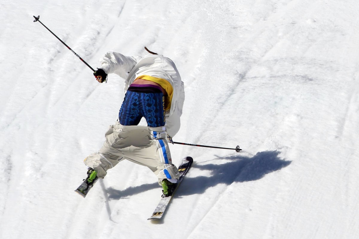 Pants Down Skier Suffers Wardrobe Malfunction Nbc News