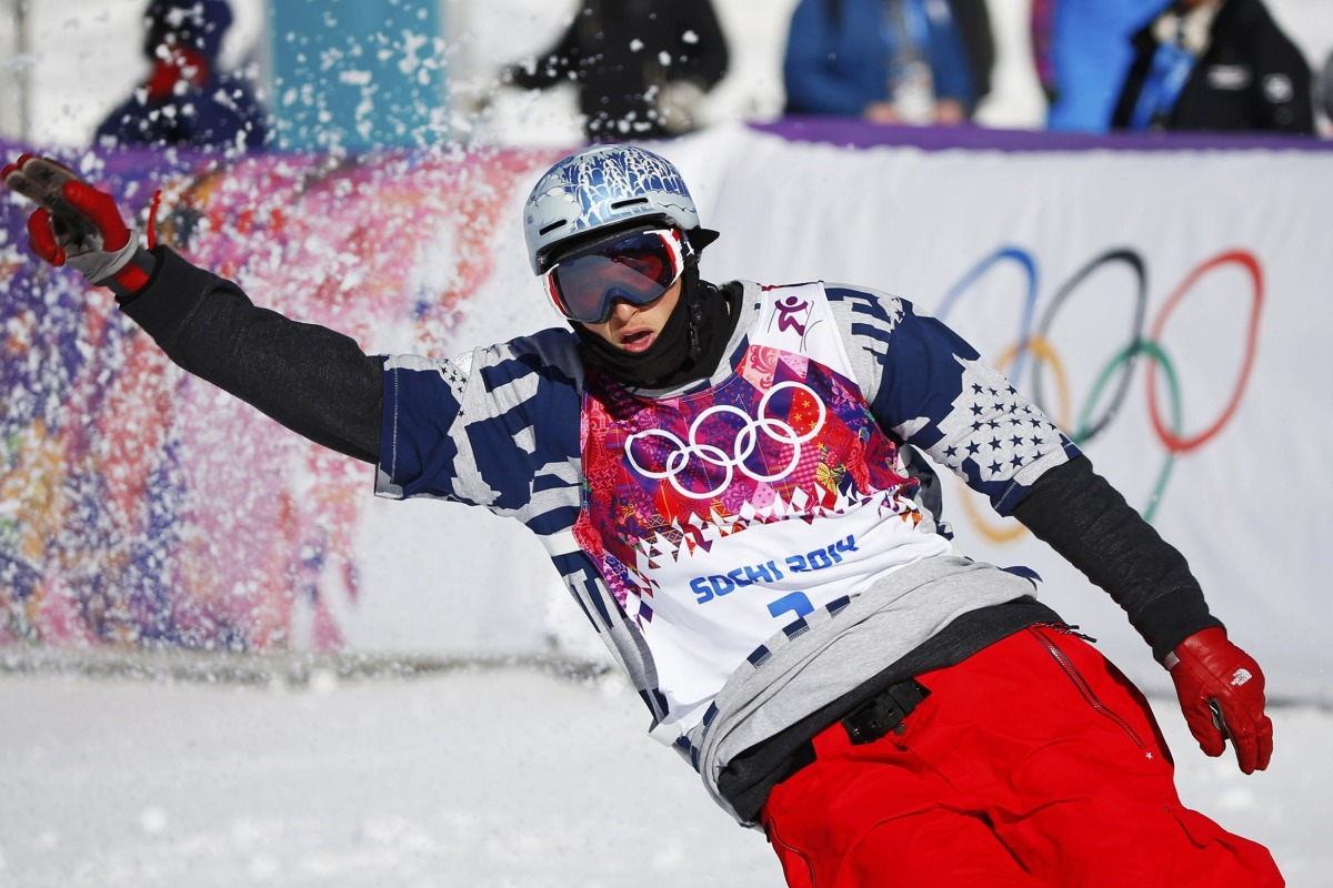 Image: Nicholas Goepper of U.S. reacts during men's freestyle skiing slopestyle qualification round at 2014 Sochi Winter Olympic Games in Rosa Khutor