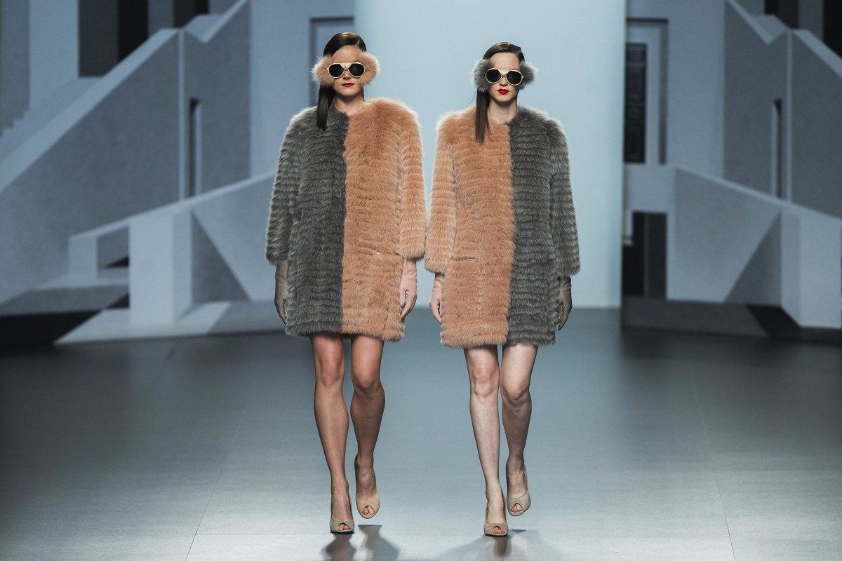 Image: Models display Fall/Winter designs by Miguel Marinero