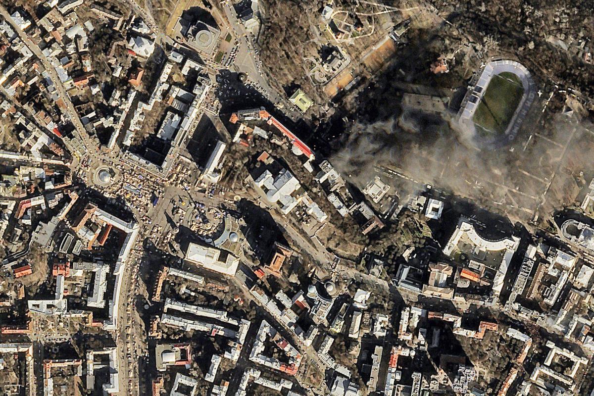 Image: UKRAINE-POLITICS-UNREST-AERIAL-VIEW