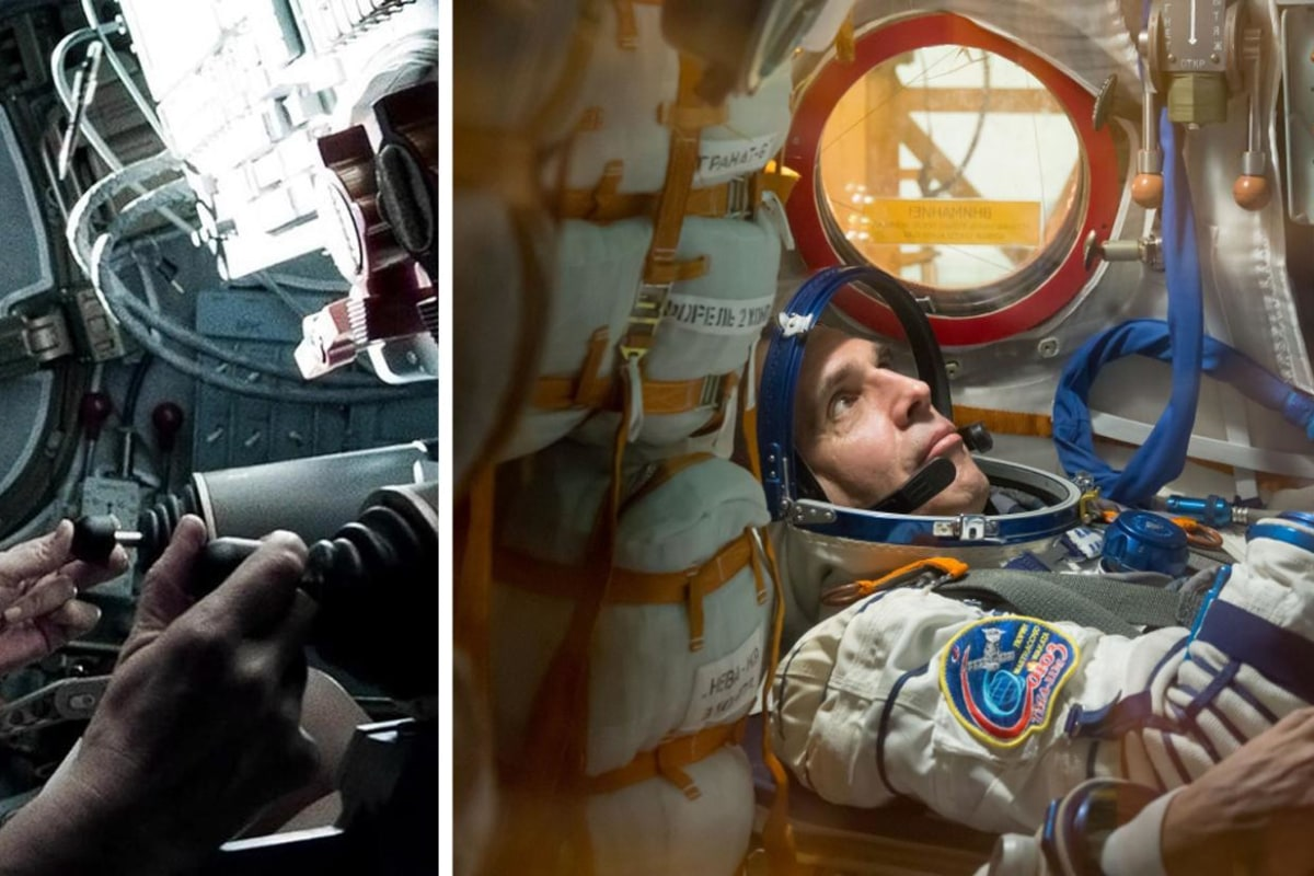 Image: Sandra Bullock in Gravity | NASA astronaut Rick Mastracchio
