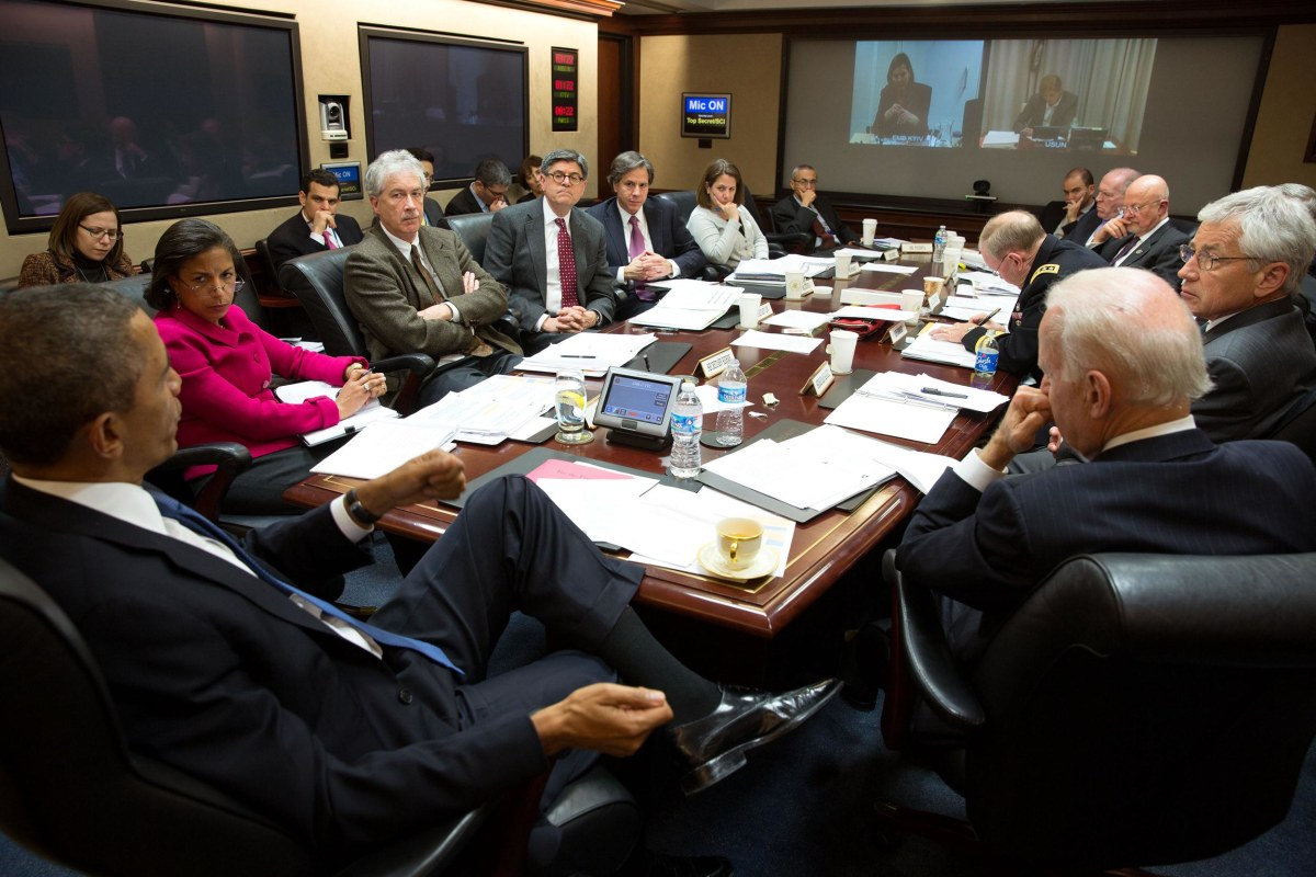 Image: President Barack Obama convenes a National Security Council meeting in the Situation Room