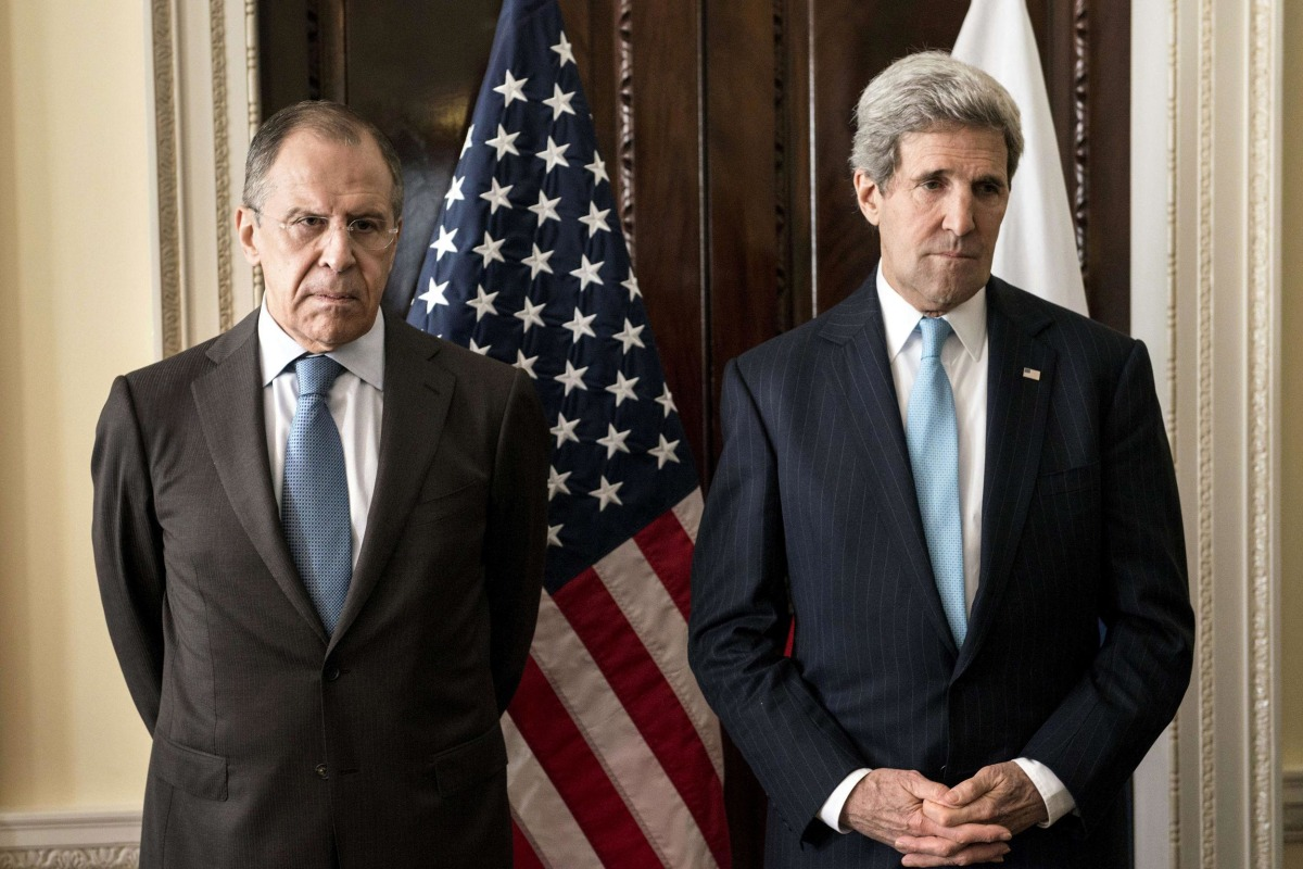 Image: Russian Foreign Minister Sergey Lavrov and US Secretary of State John Kerry