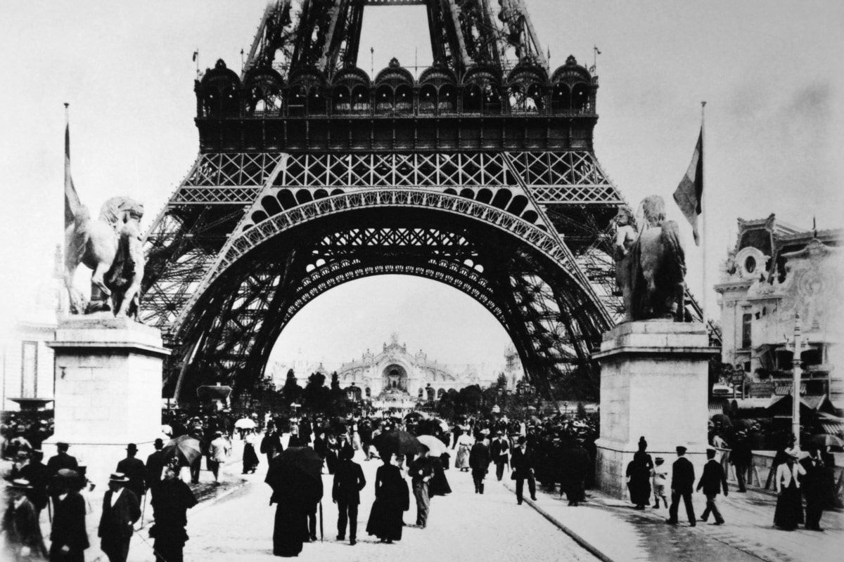 a history of the eiffel tower the trademark of paris france The eiffel tower is the trademark of paris, france with the tower being 984ft, it's  kind of hard not to notice it the tower has a restaurant, radio and.
