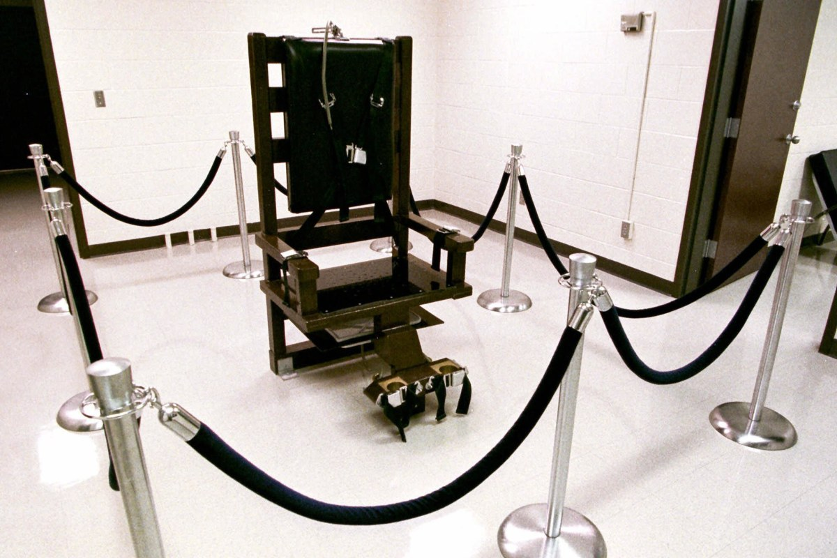 death penalty and electric chair 17051972 electric chair n 1 a device used in the electrocution of a person sentenced to death, consisting of a chair in which the person is restrained and a.