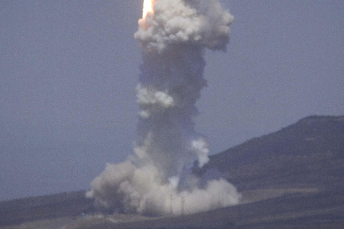 Image: Missile defense test
