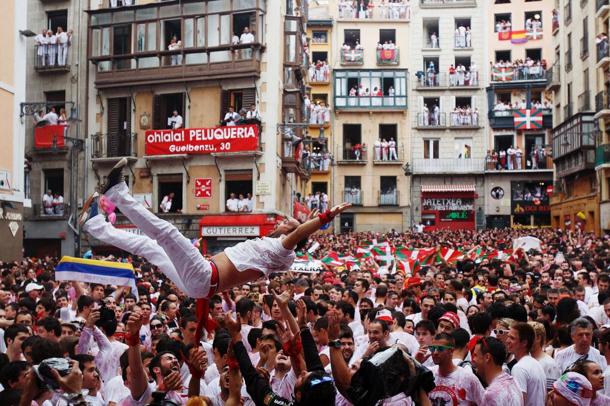 Image: Pamplona Running Of The Bulls