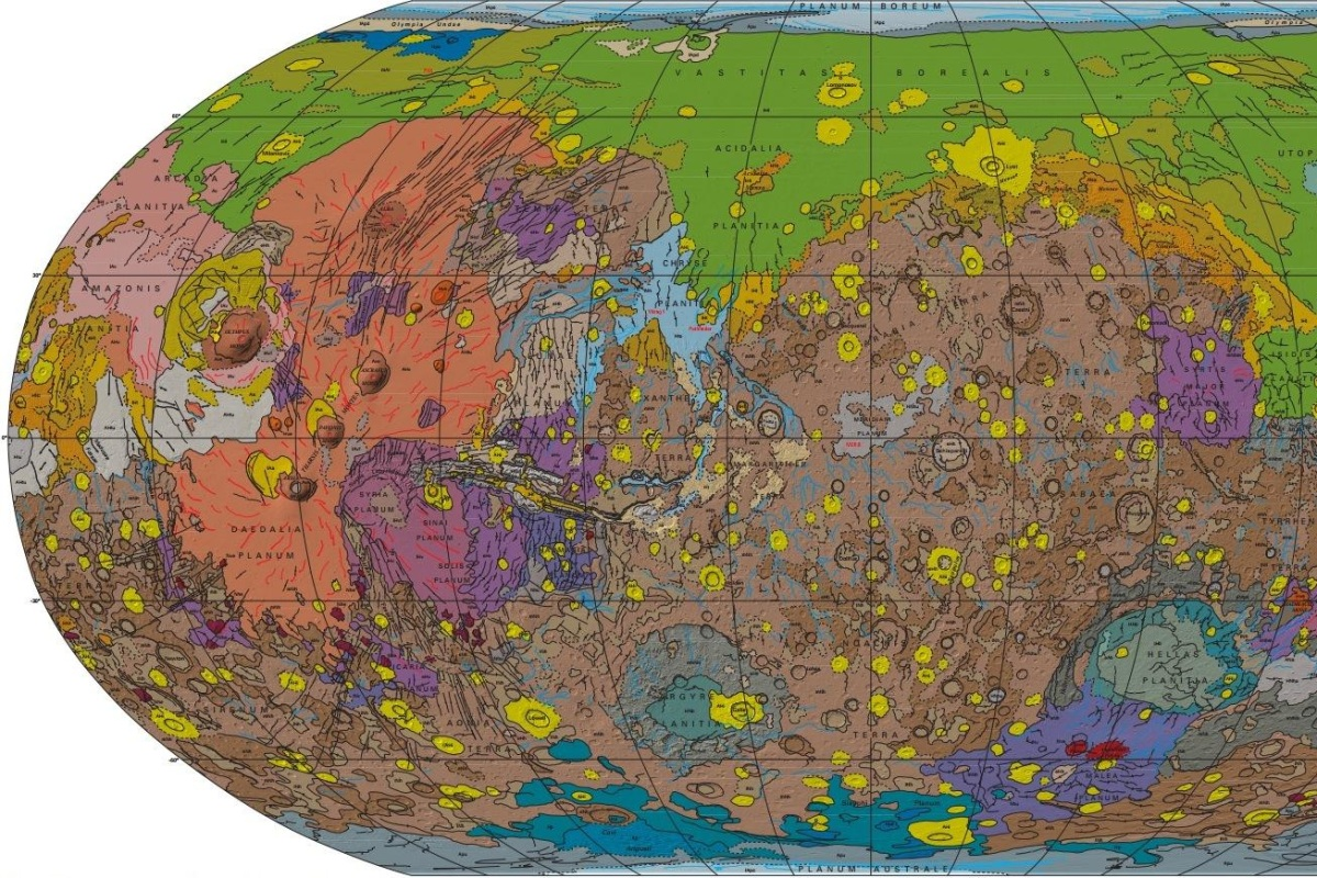 printable map of planet mars - photo #29
