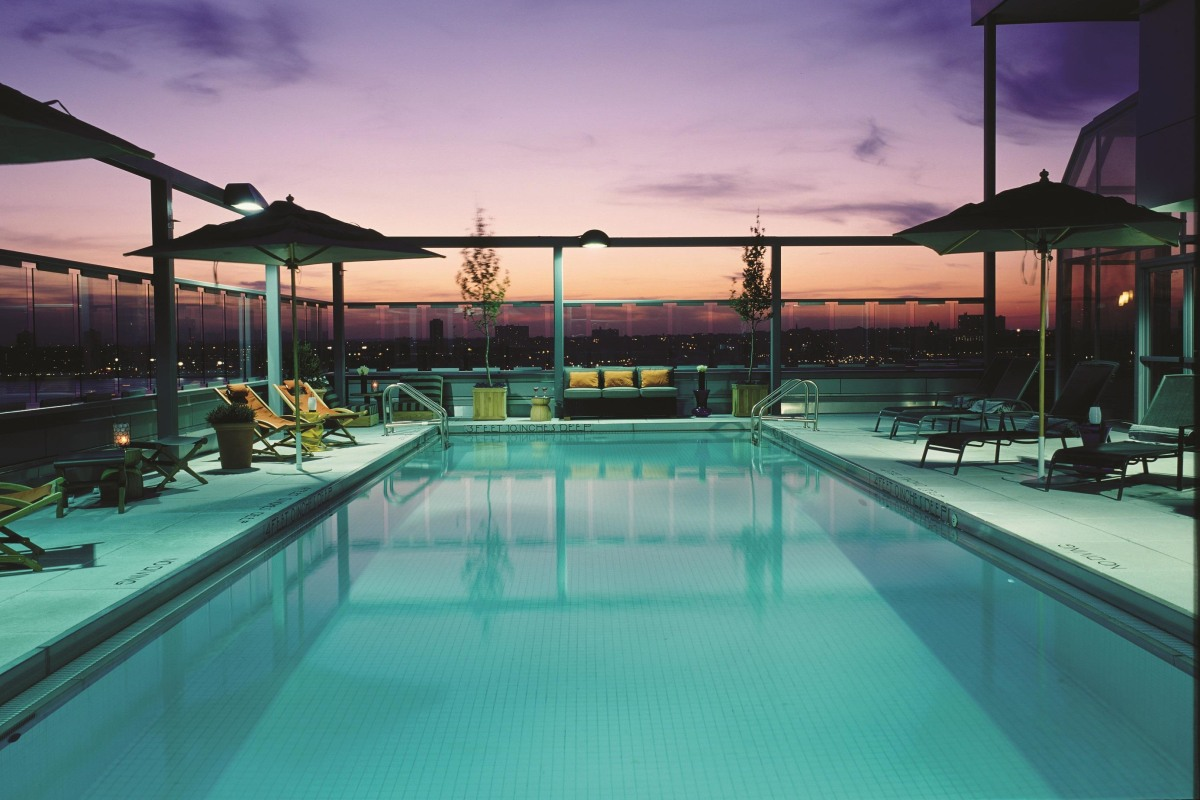 Beat the heat hotels open their pools to 39 daycationing - Hotel new york swimming pool roof ...
