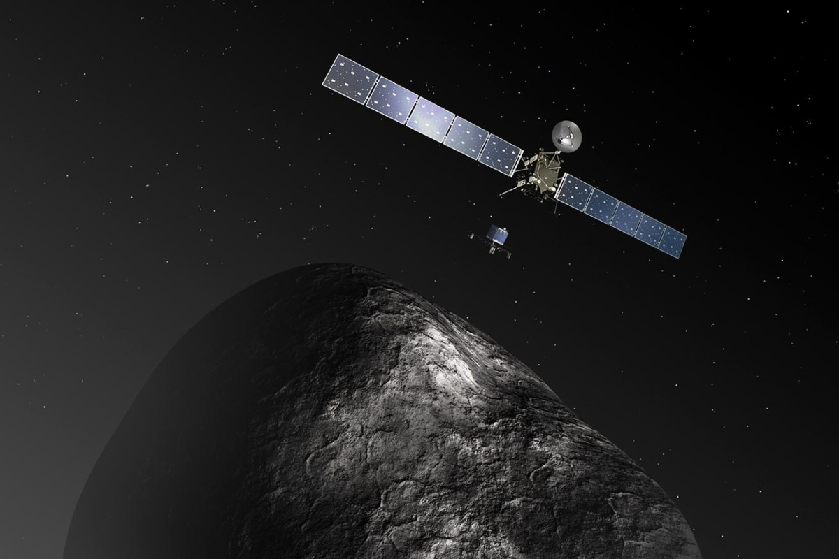 Us First Space Probe : A cosmic first rosetta probe goes into odd duck orbit