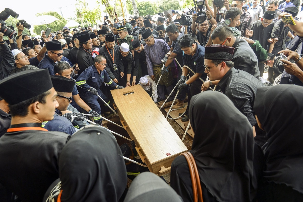 Image: Funeral for MH17 victims in Kuala Lumpur