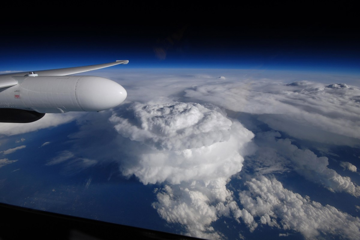 Mesocyclone's Effect: Supercell Towers Over the Carolinas ...