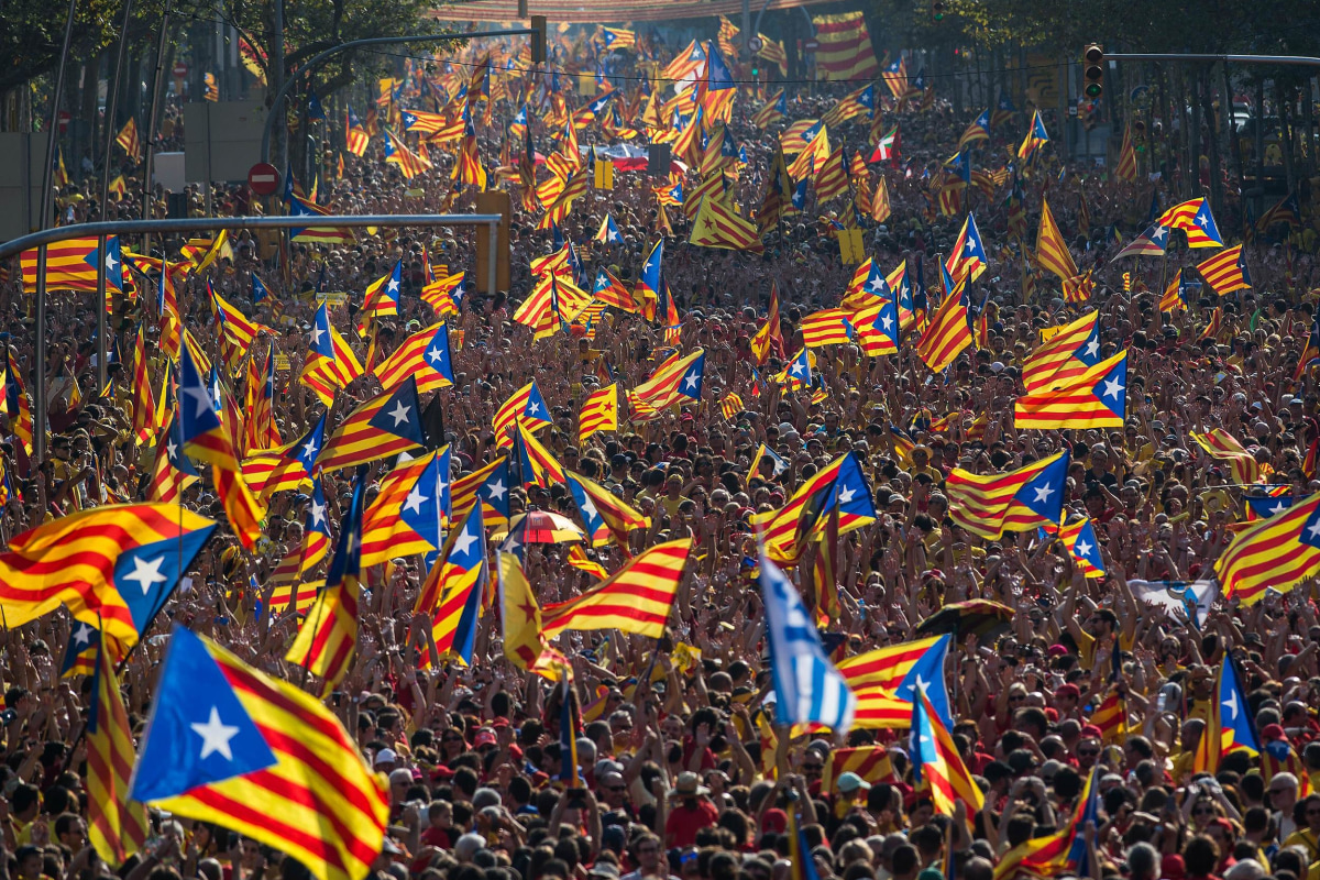 Image: Catalan Independence Rally In Barcelona