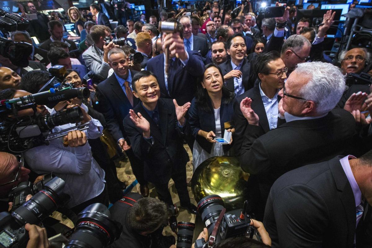 Image: Alibaba founder Jack Ma at IPO