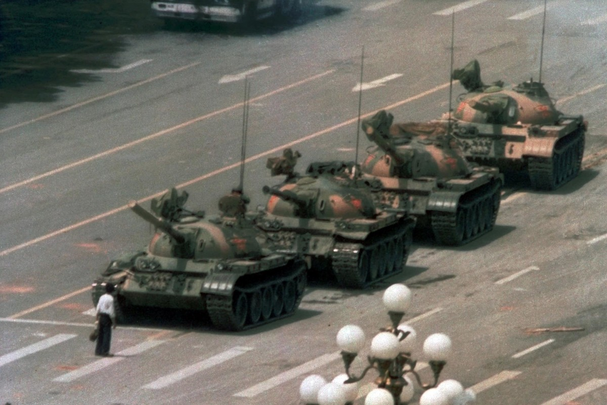 Image result for image of tiananmen square tank student