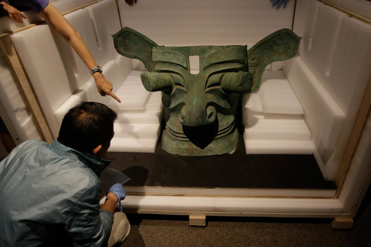 Image: Bronze Mask at Bowers Museum
