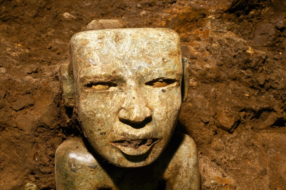 Image: Sculpture unearthed at the Teotihuacan archeological site in Mexico