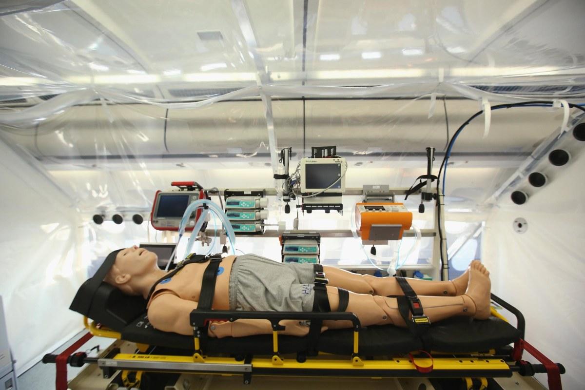Image: Germany Presents Ebola Medevac Plane