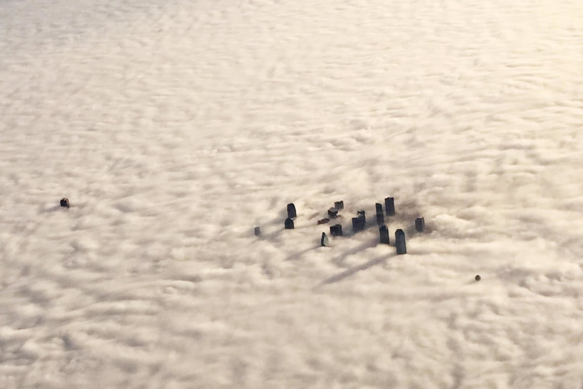 Image: Downtown Dallas is enveloped in morning fog, Tuesday, Dec. 9, 2014.