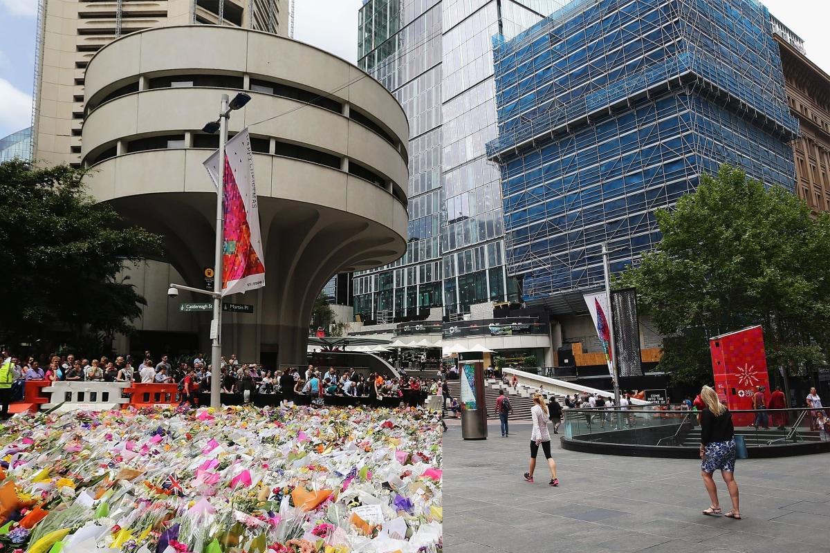Image: Flower Tributes For Sydney Siege Victims Removed From Martin Place
