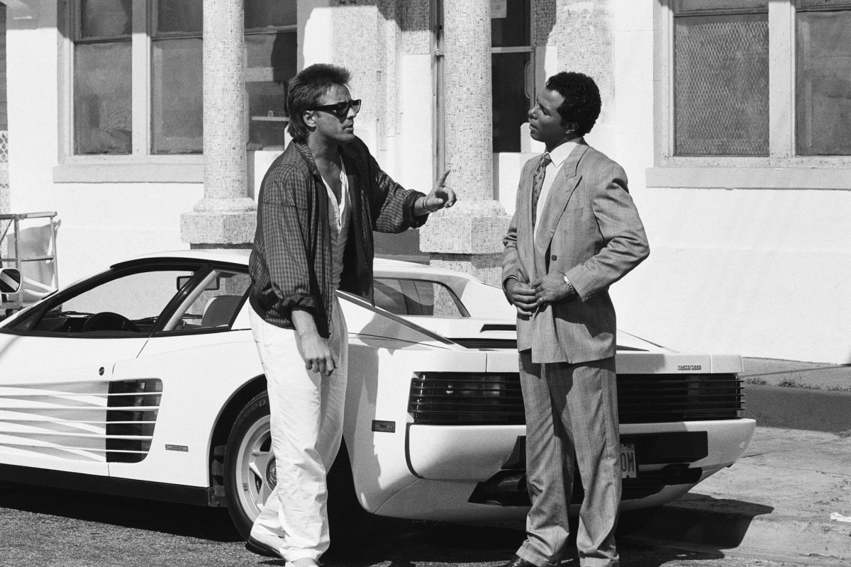 """The Ferrari Testarossa driven by Sonny Crockett in the '80s hit """"Miami Vice"""" is up for auction."""