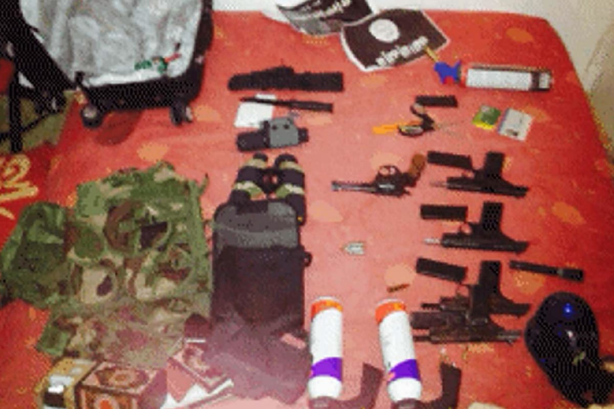 The arms cache discovered in the flat of Amedy Coulibaly.