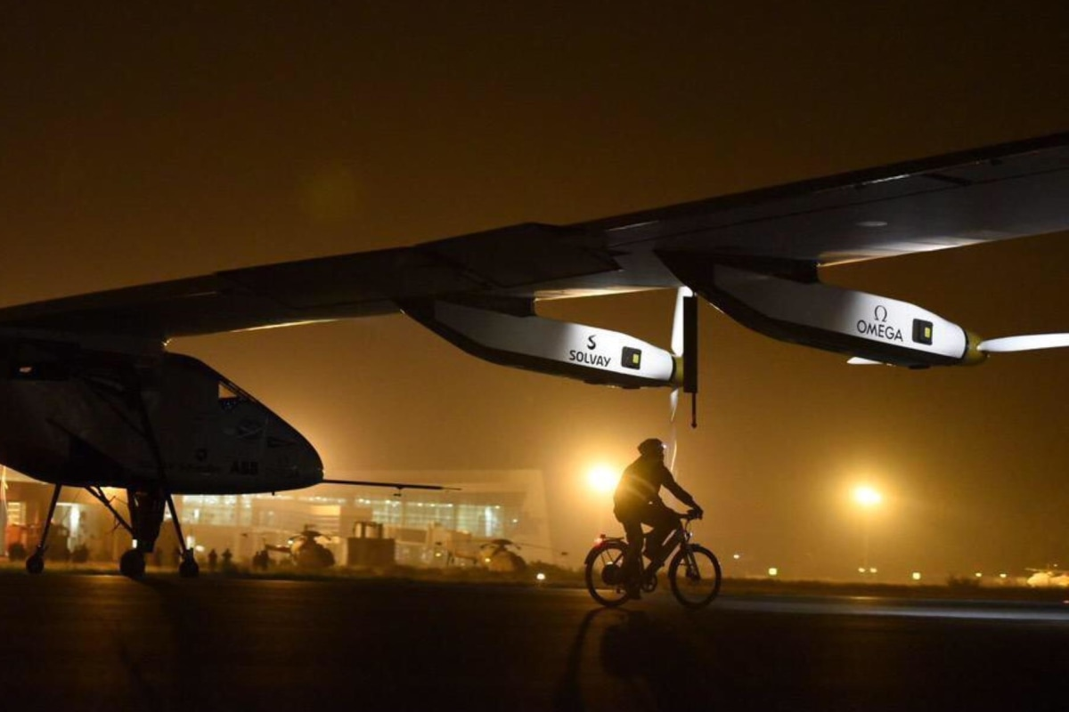 Solar Impulse Plane Makes A  U0026 39 Pit Stop U0026 39  In Indian Holy City