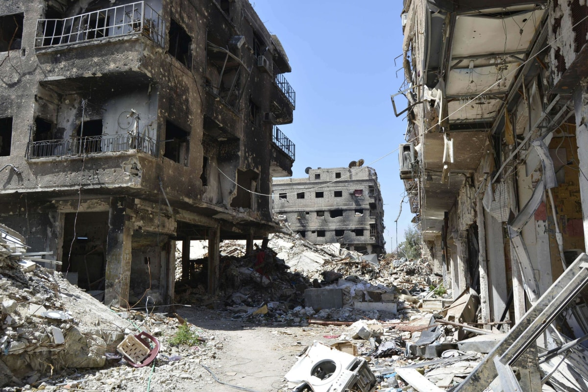 Image: Yarmuk Palestinian refugee camp in the Syrian capital