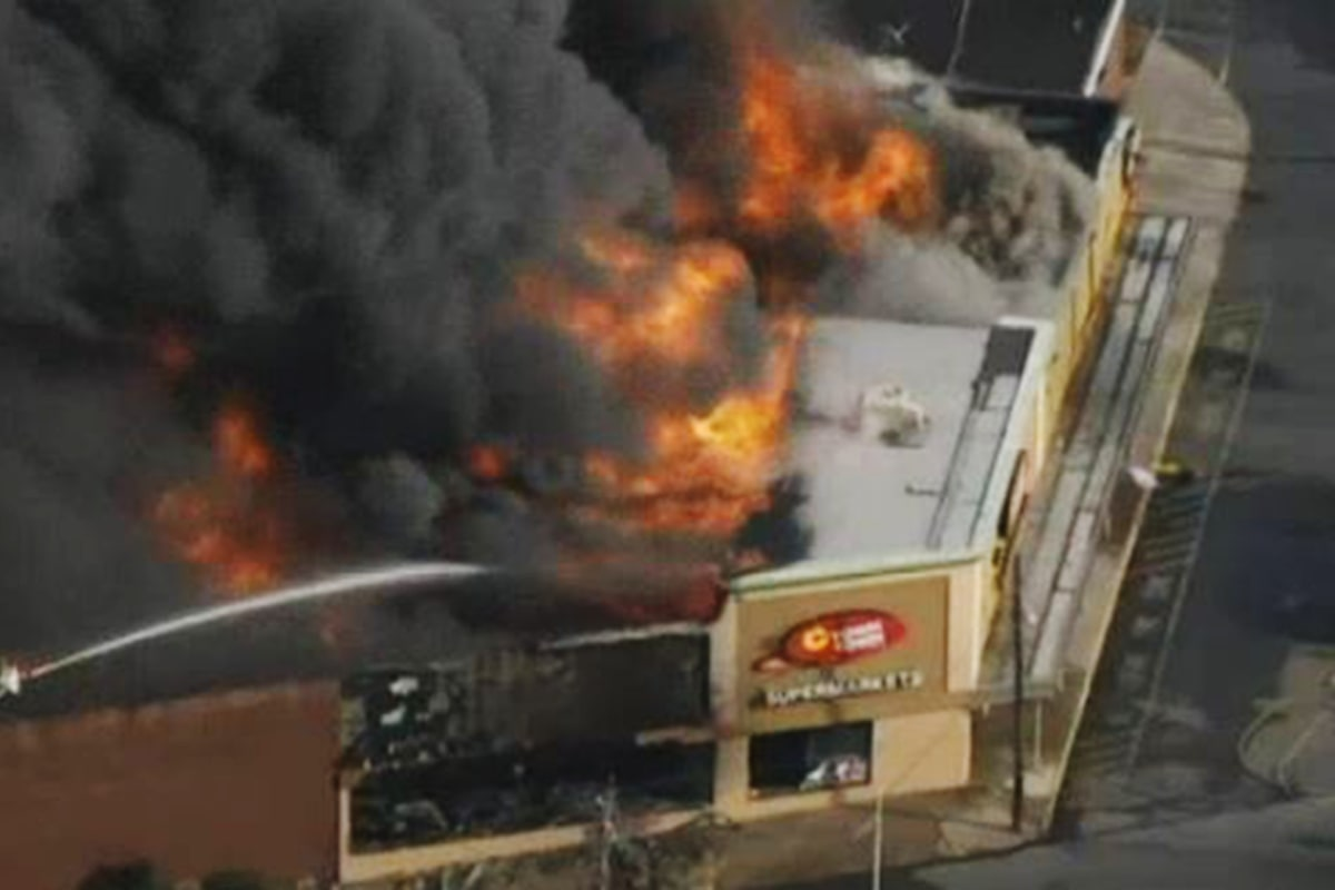 New Jersey Supermarket Destroyed in Blaze for Second Time