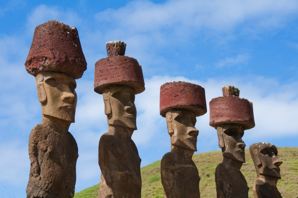 Large Heads Like Easter Island
