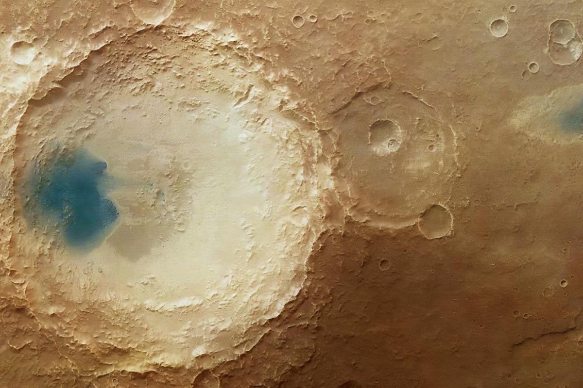 Blue on Mars