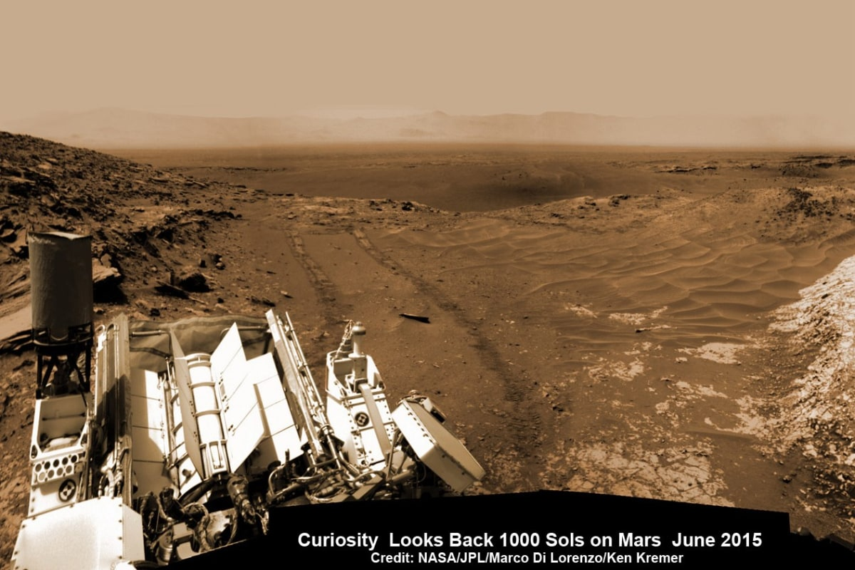 Mars Rover Curiosity Looks Back on 1,000 Sols on the Red ...