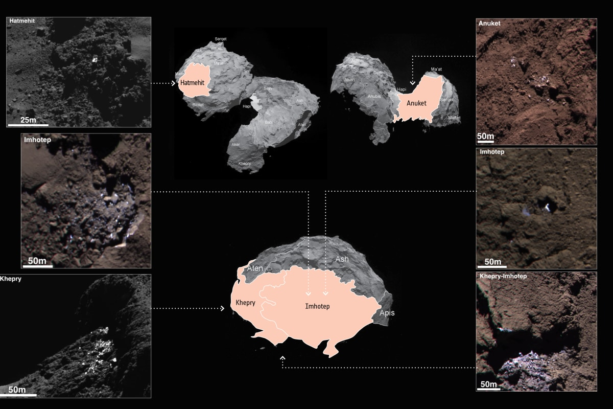 Image: Comet ice patches