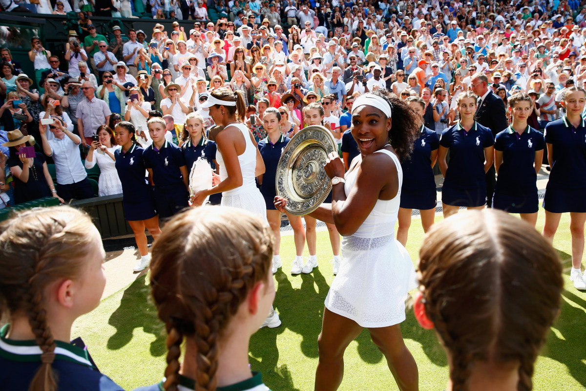 wimbledon latino personals London, england - july 14: angelique kerber of germany celebrates match point against serena williams of the united states during the ladies' singles final on day twelve of the wimbledon.