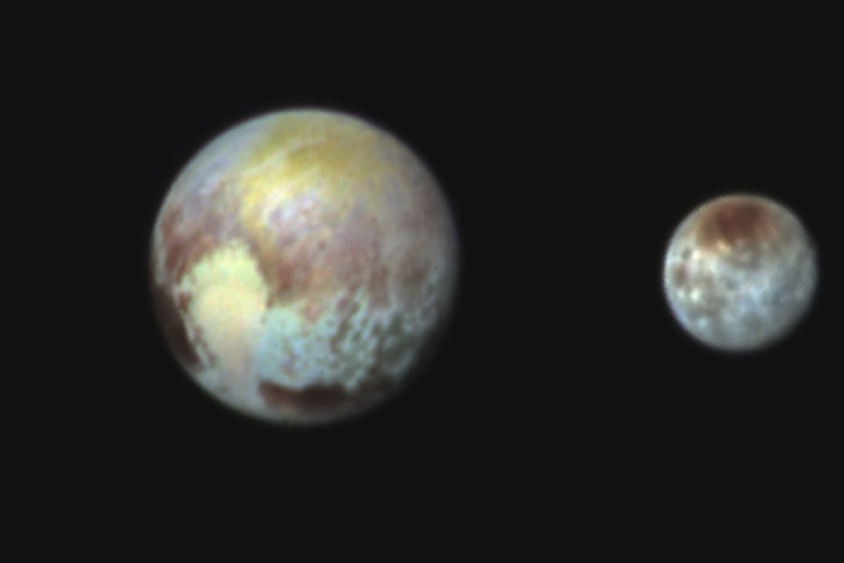 Image: Pluto and Charon in false color