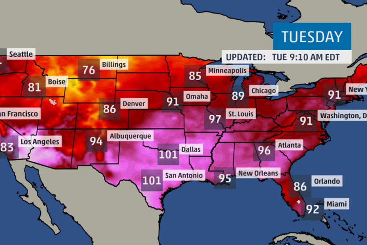 Heat Wave Millions Bake Under Warnings In Midwest