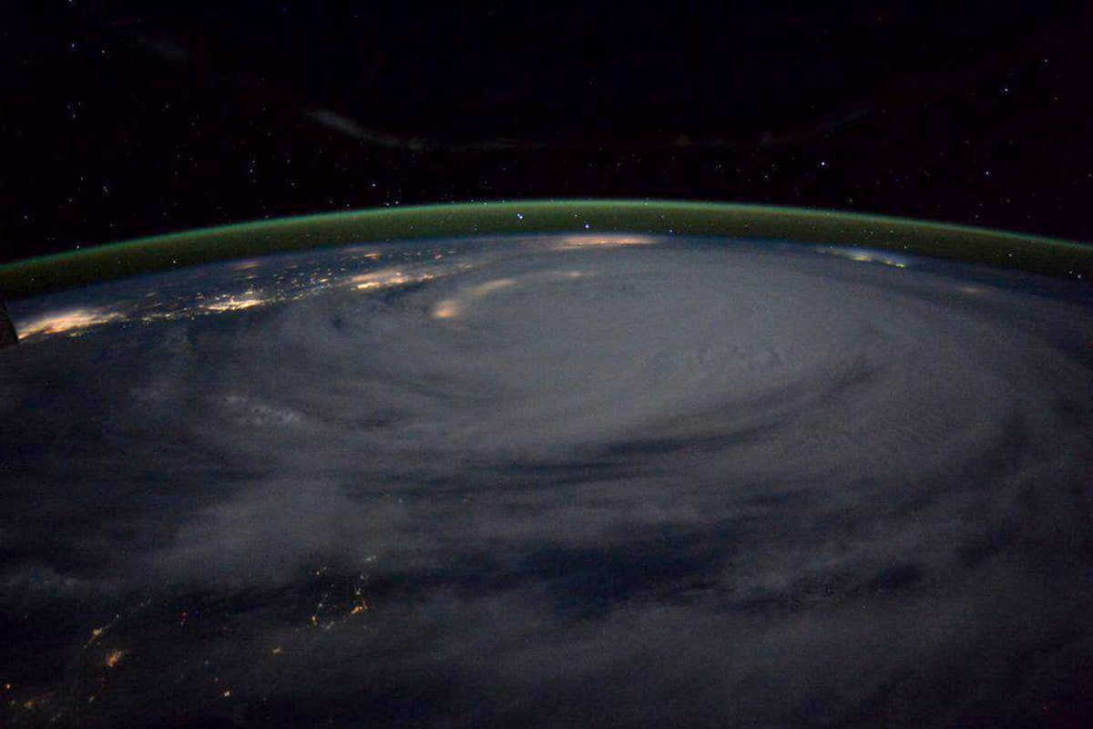 Image: Typhoon Soudelor seen from International Space Station