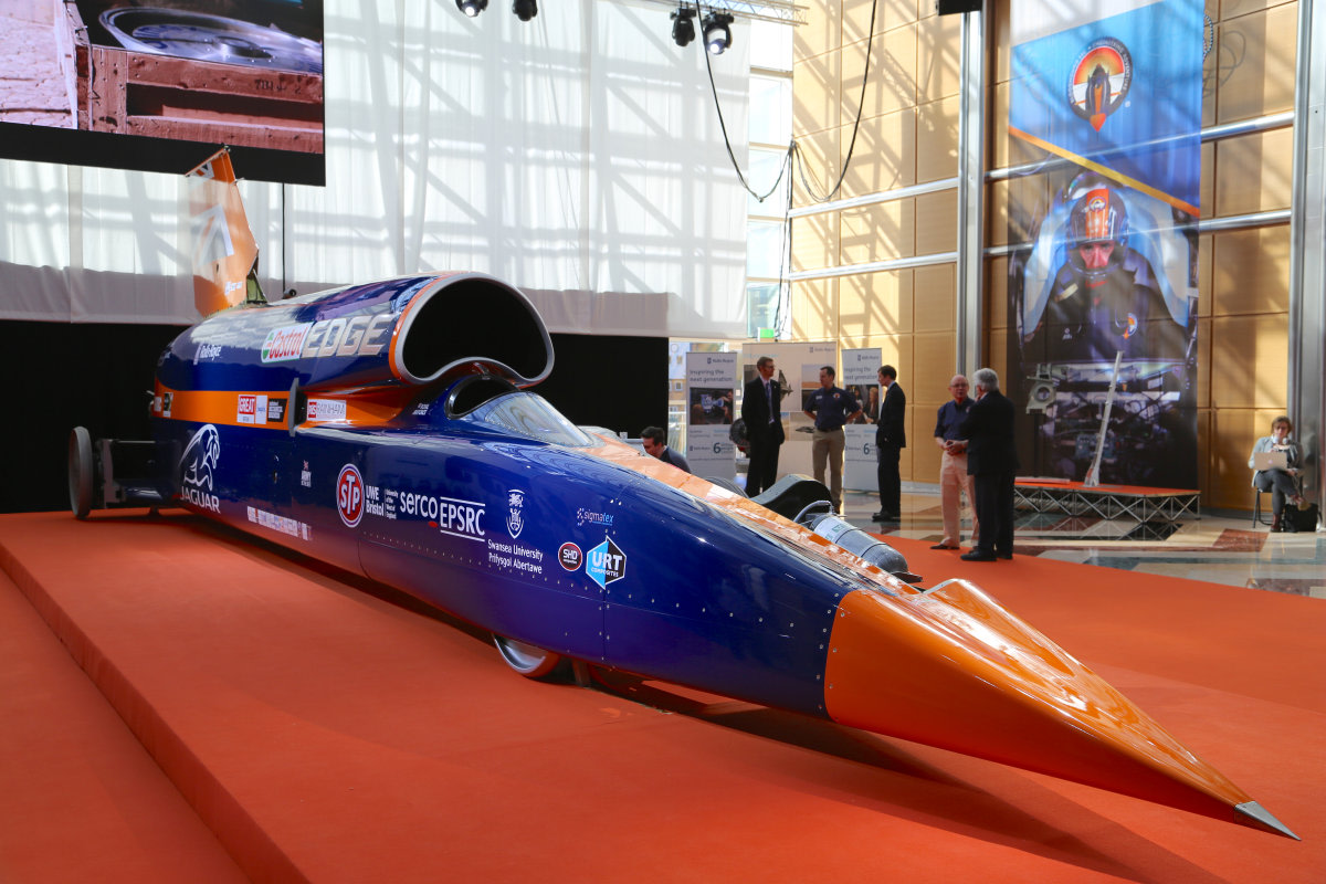 Worlds Fastest Cars >> 1,000 MPH? Bloodhound Supersonic Car Goes on Display in London - NBC News