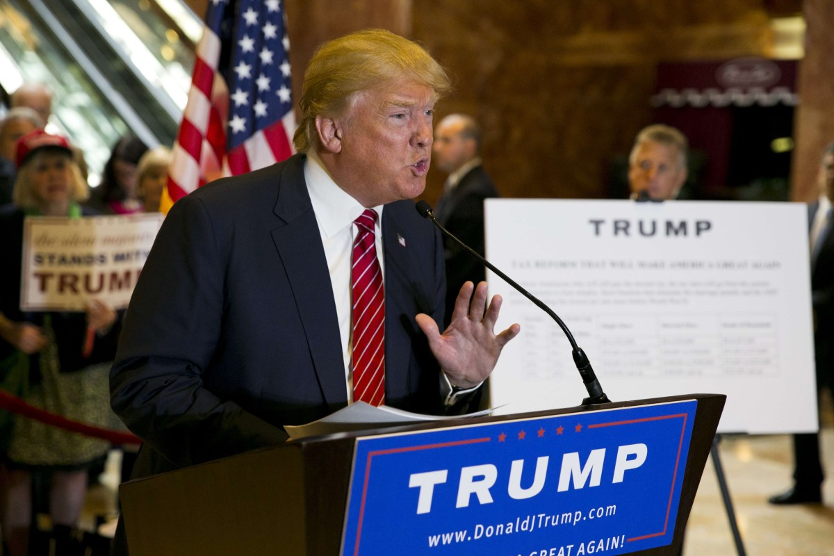 news donald trump plan business income middle class