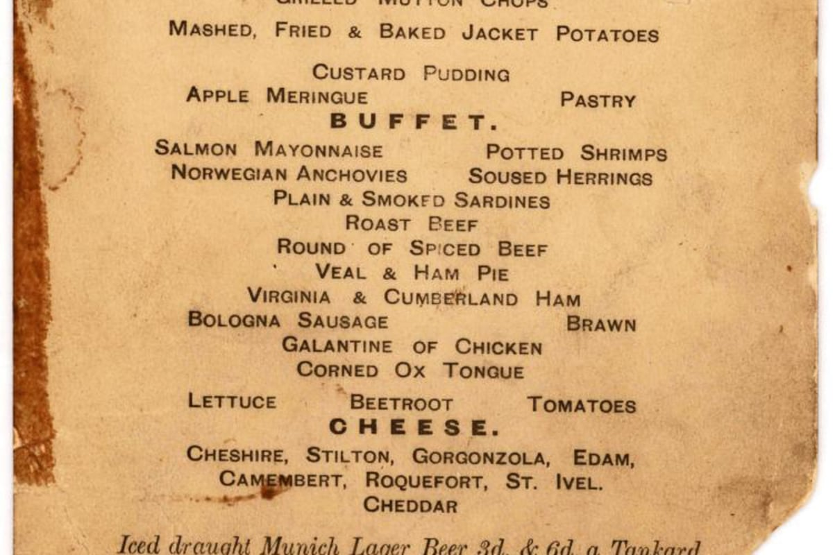 Titanic Third Class Menu High Seas History Menu For Last Lunch On Titanic Up For